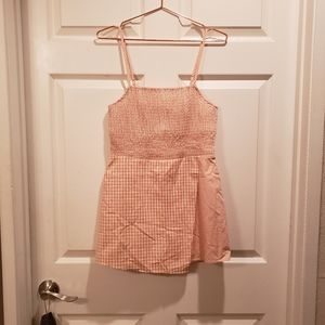 Gingham orangesicle romper - urban outfitters